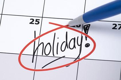 Bank Holidays – Calendario festività