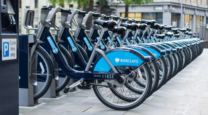 Barclays cycle hire – Bike sharing